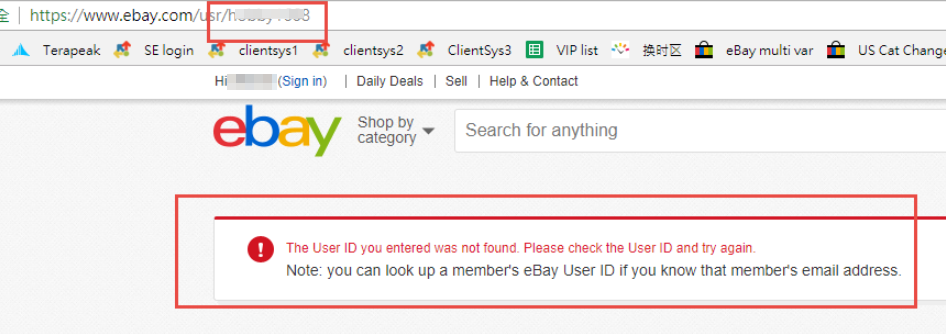 Cannot Link Up A New Ebay Id Why