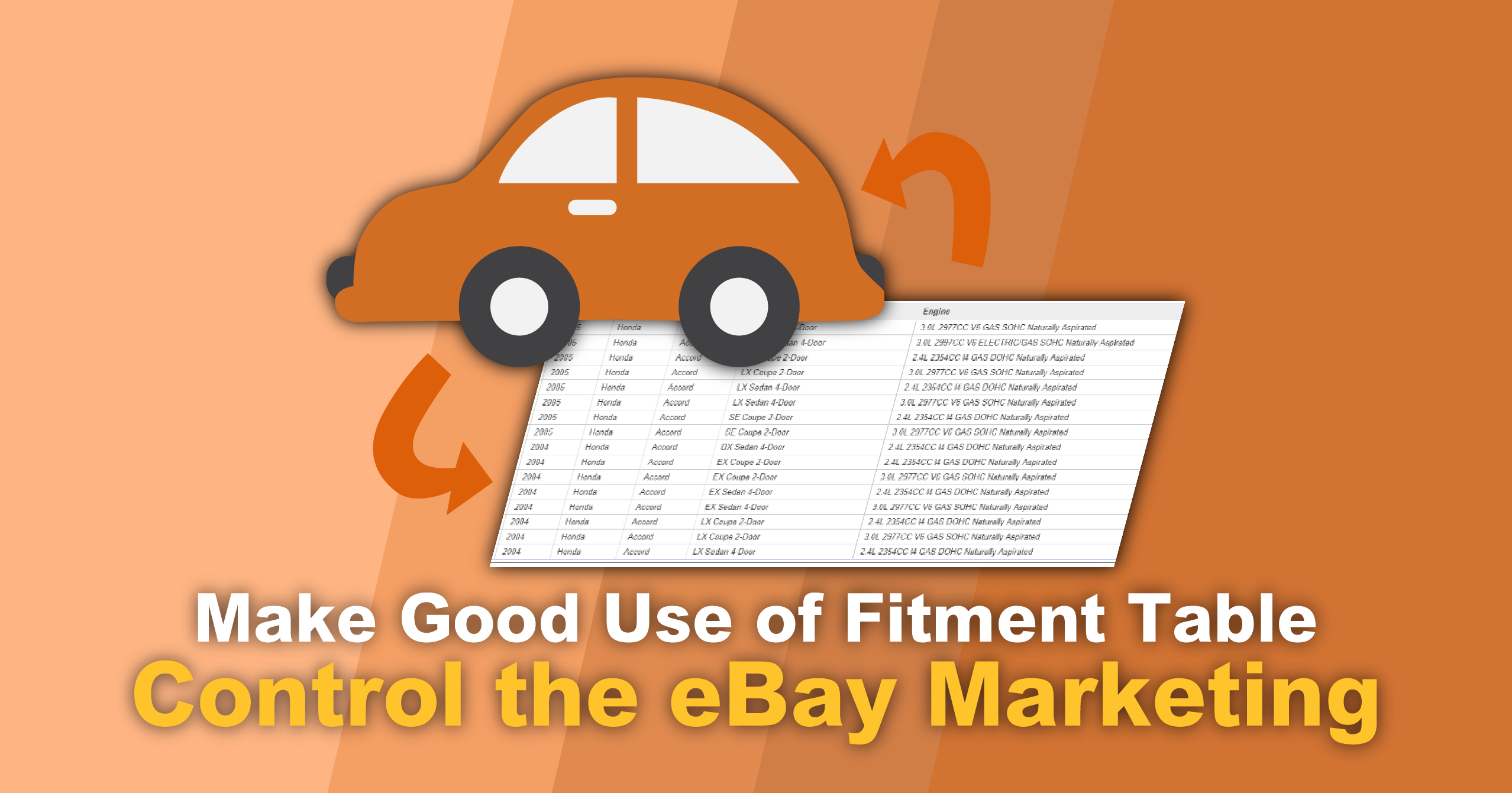 Ebay Promotion Tips Using The Fitment Table Hold More Opportunities Soldeazy