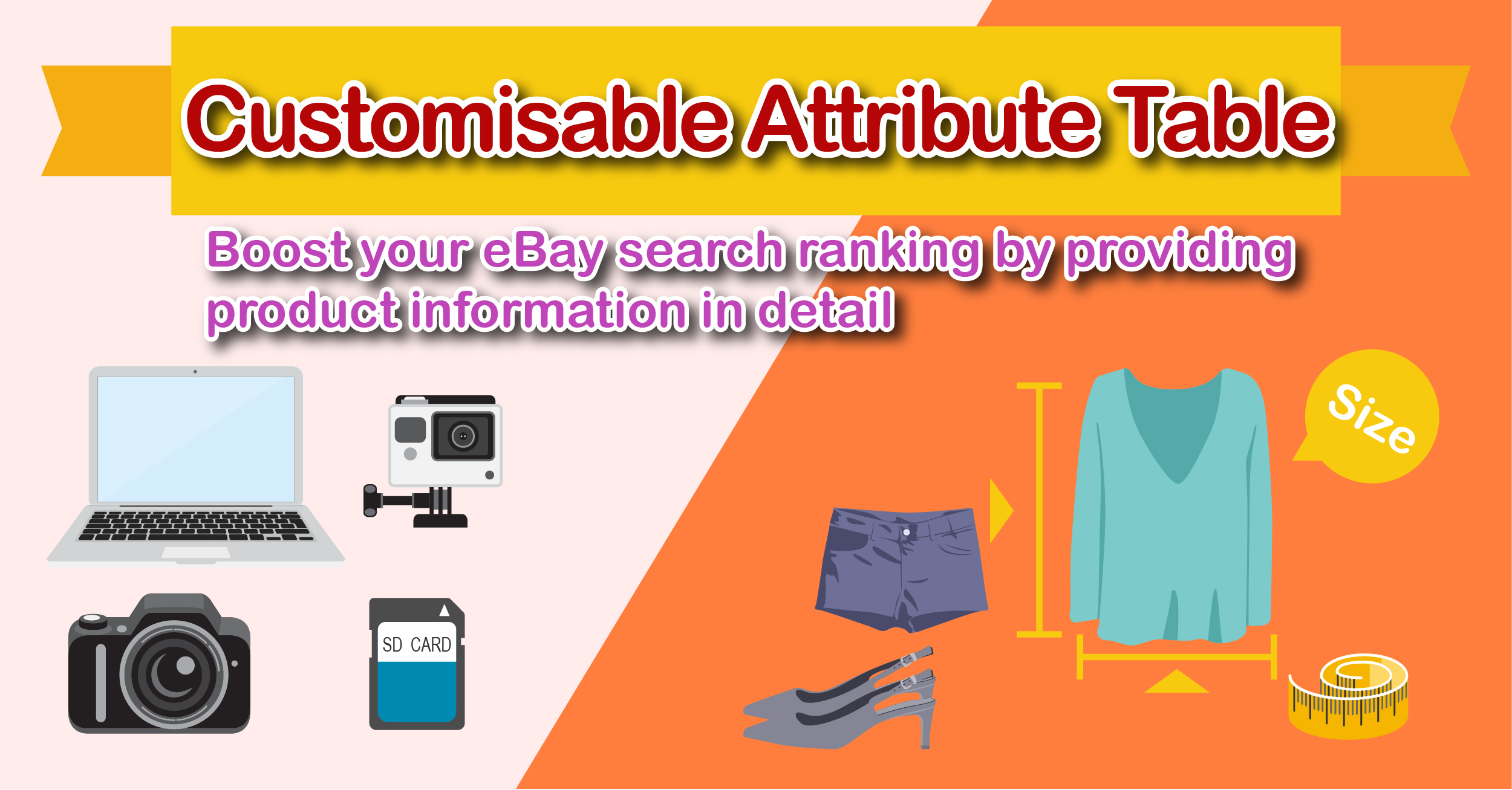 Ebay Promotion Tips Customisable Attribute Table Boost Your Ebay Search Ranking By Providing Product Information In Detail Soldeazy